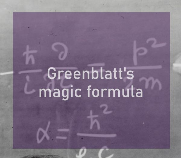 Greenblatts magic formula