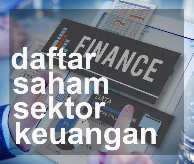 Daftar saham sektor keuangan Finance